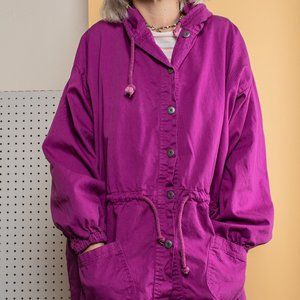 Vintage 80s Purple Hooded Jacket